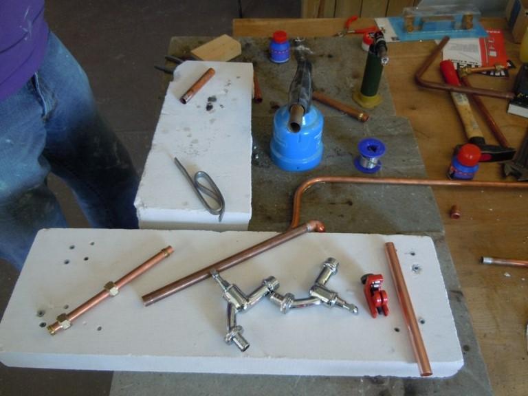 Leer solderen bij de workshop loodgieten