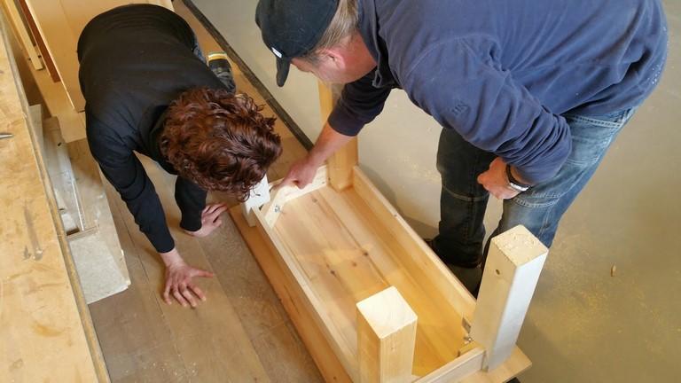 Regel verbindingen van houten tafel