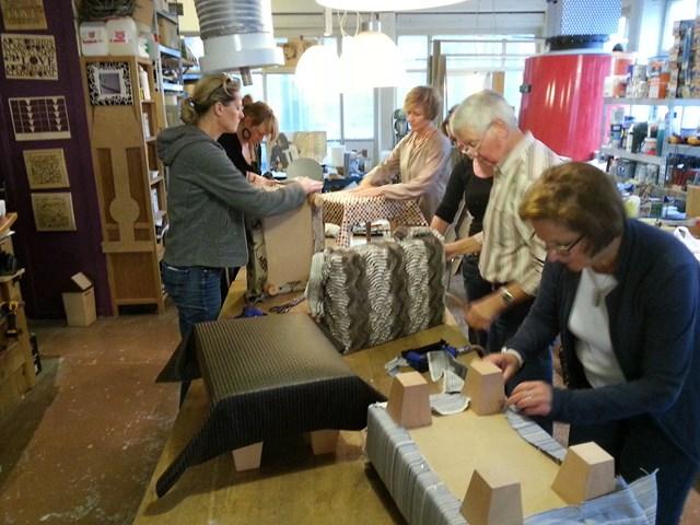 Workshop Meubelstofferen waar u leert werken in kleine groepjes