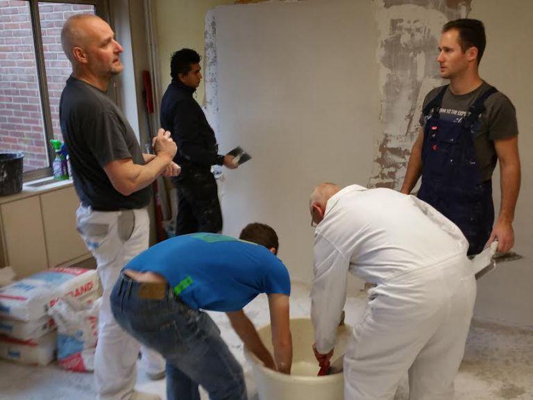 Workshop stucen bij BeQwaam in Baarn
