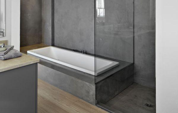 badkamer stuken met beton cire